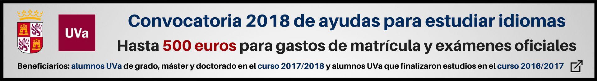 Banner becas 2017 2018 web idiomas Junta