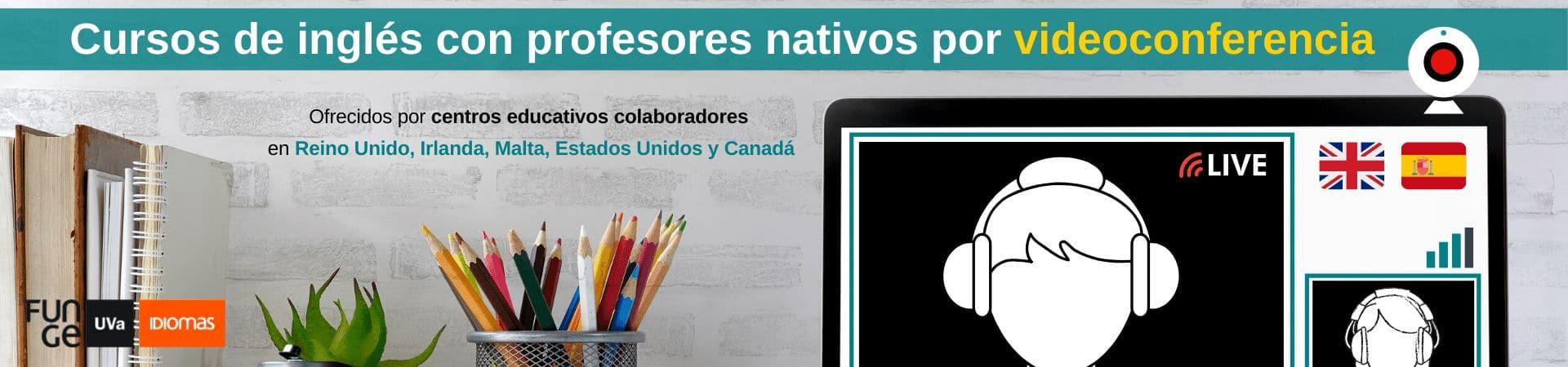 Cursos de inglés por videoconferencia online - Centro de Idiomas UVa - verano 2020