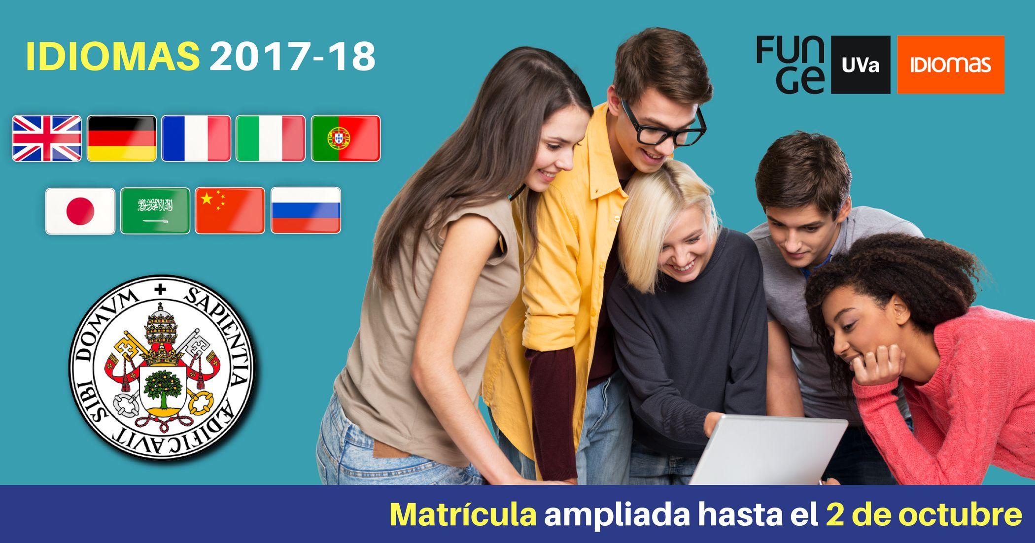 Ampliación matrícula Idiomas UVa 2017 2018