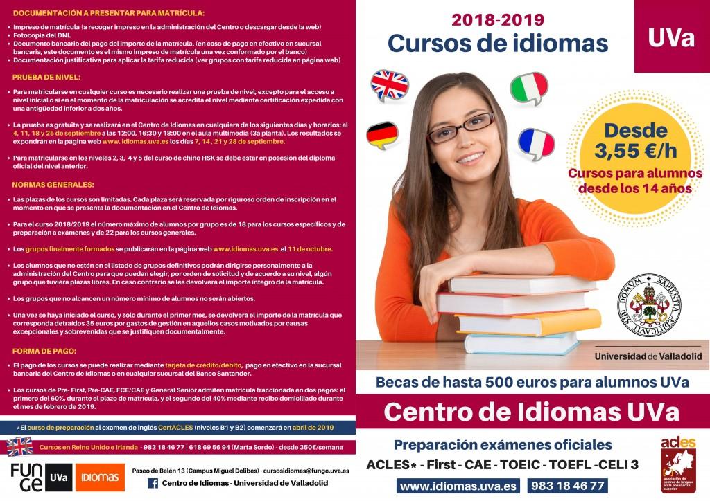 Folleto curso general 2018-2019 - portada y reverso