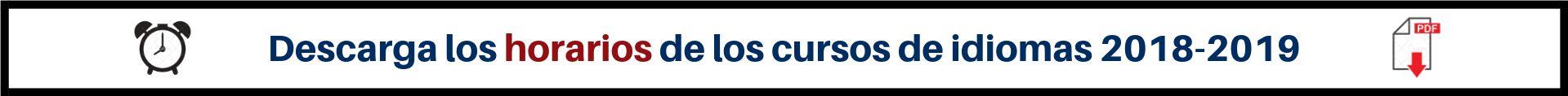 Horarios curso 2018-2019 banner