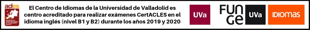 Banner ACLES certificación UVa 2019 2020