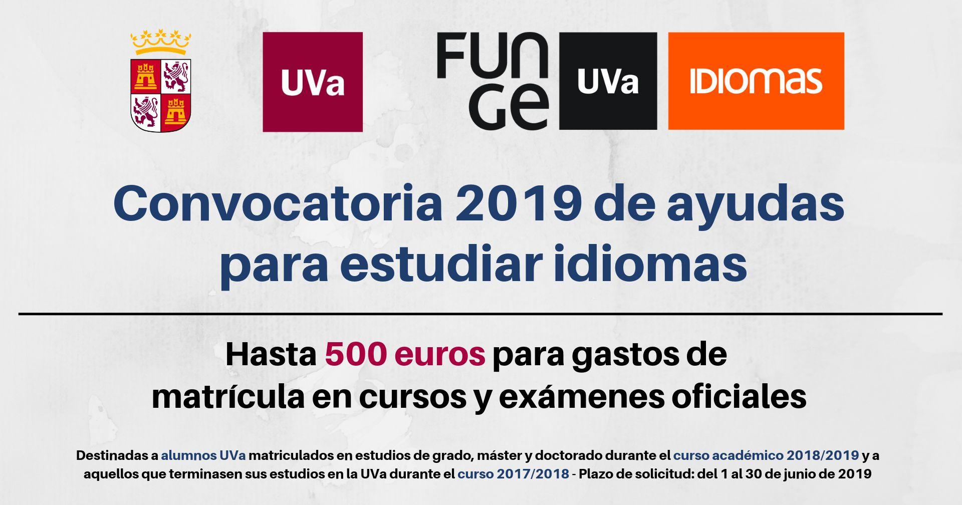 Convocatoria 2019 ayudas para estudiar idiomas