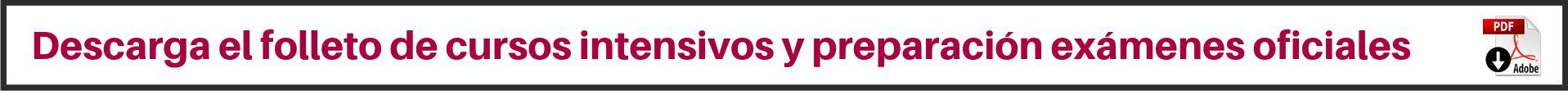 Banner cursos y folleto descargar centro de idiomas uva inglés 2019