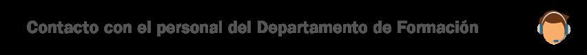 Contacto - Departamento de Formación - Fundación General de la Universidad de Valladolid