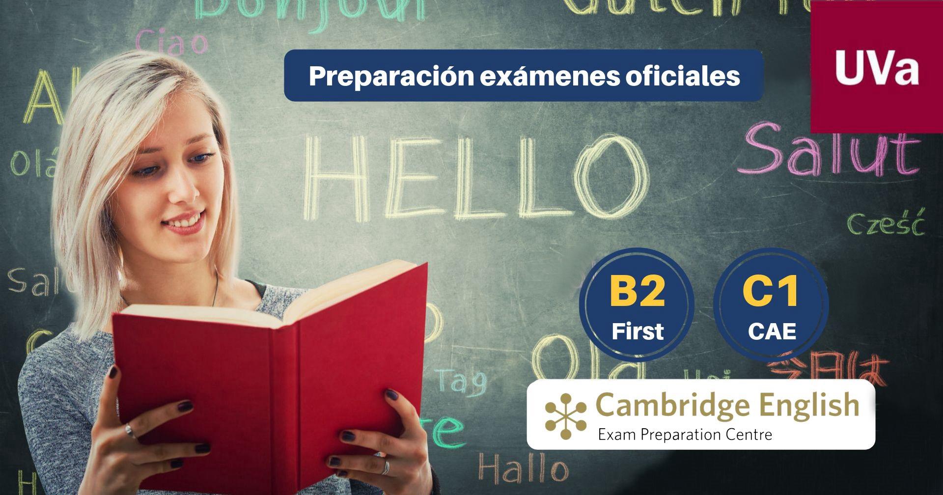 Curso de preparación examen First y CAE (Advanced) - Centro de Idiomas Universidad de Valladolid abril junio 2019