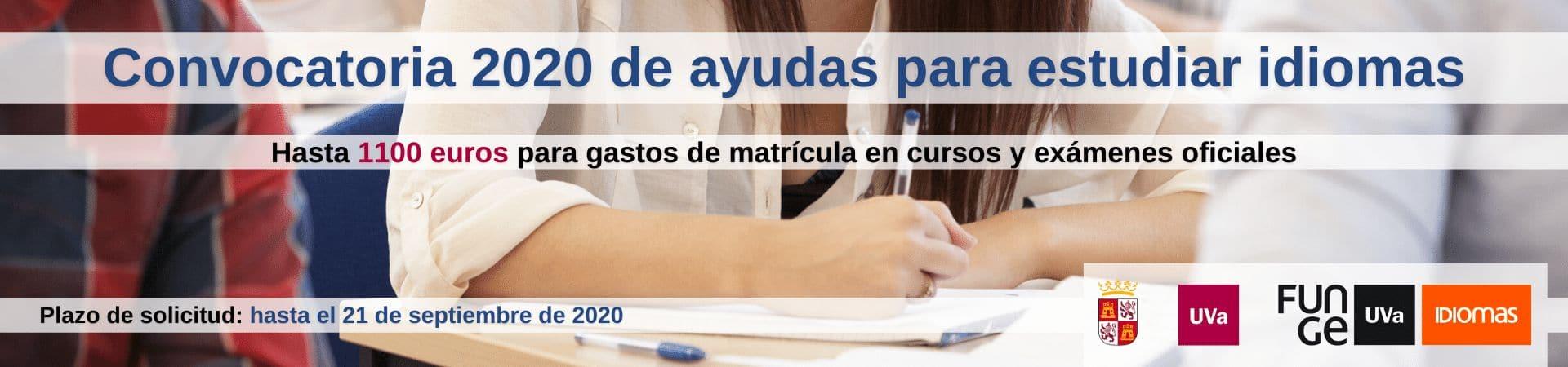 Banner ayudas idiomas Junta 2020 - instagram