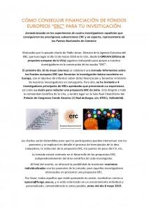 Invitación a la Jornada ERC 10 MAYO
