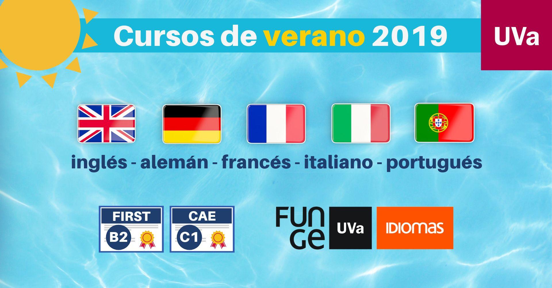 Cursos idiomas verano 2019 - Centro de Idiomas UVa inglés francés alemán italiano portugués