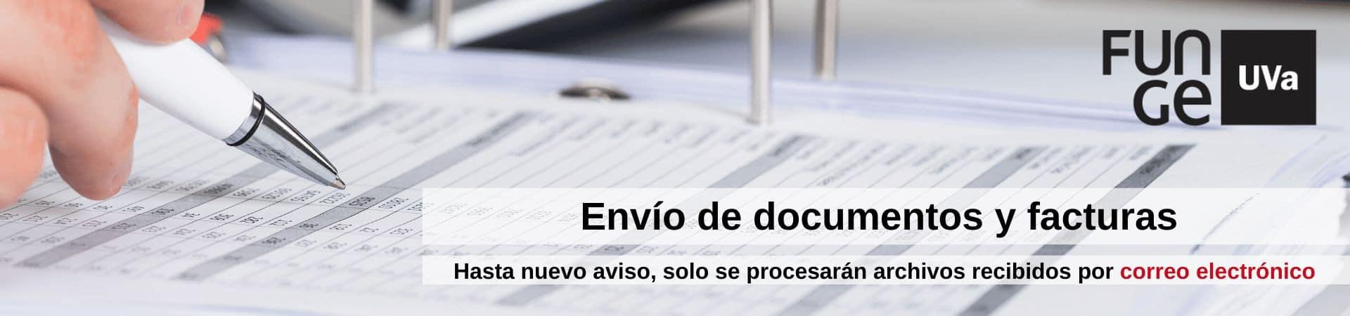 Banner documentos y facturas - Funge UVa - Covid 19