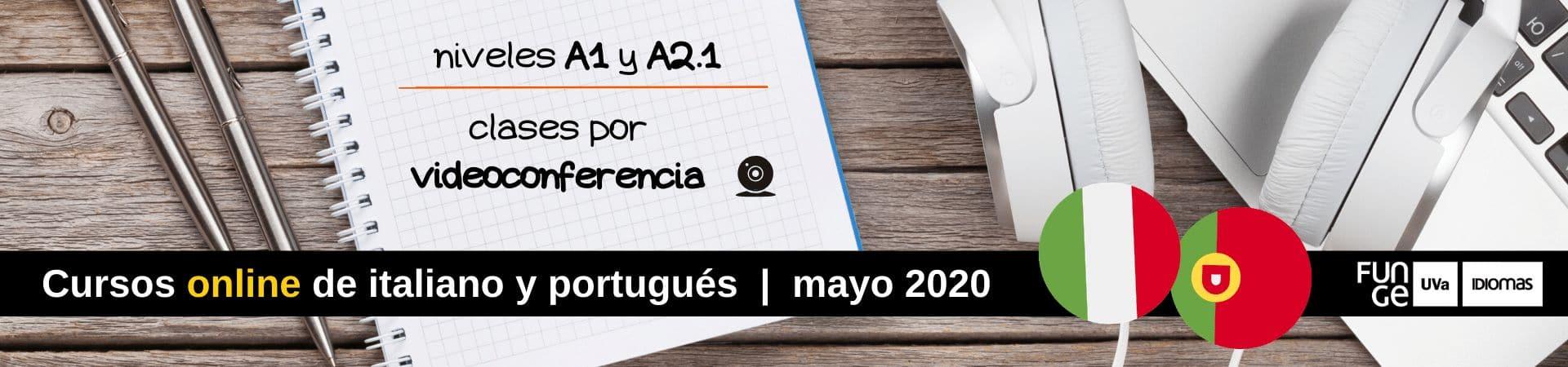 Cursos online de italiano y portugués online - mayo 2020 - Centro de Idiomas UVa - home