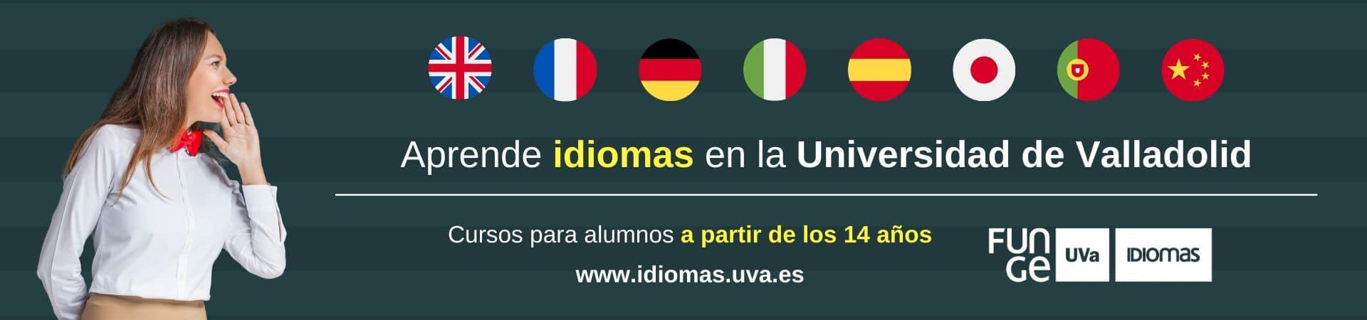 Oferta formativa Centro Idiomas UVa - banner web