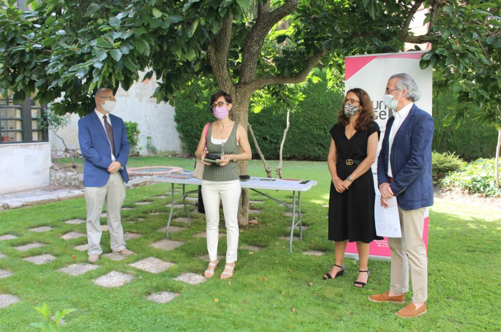 Enrique Baeyen, Elena Villarejo, Carlos F. Cabezas y Paola Sanna, tercer premio Mejor Lema.