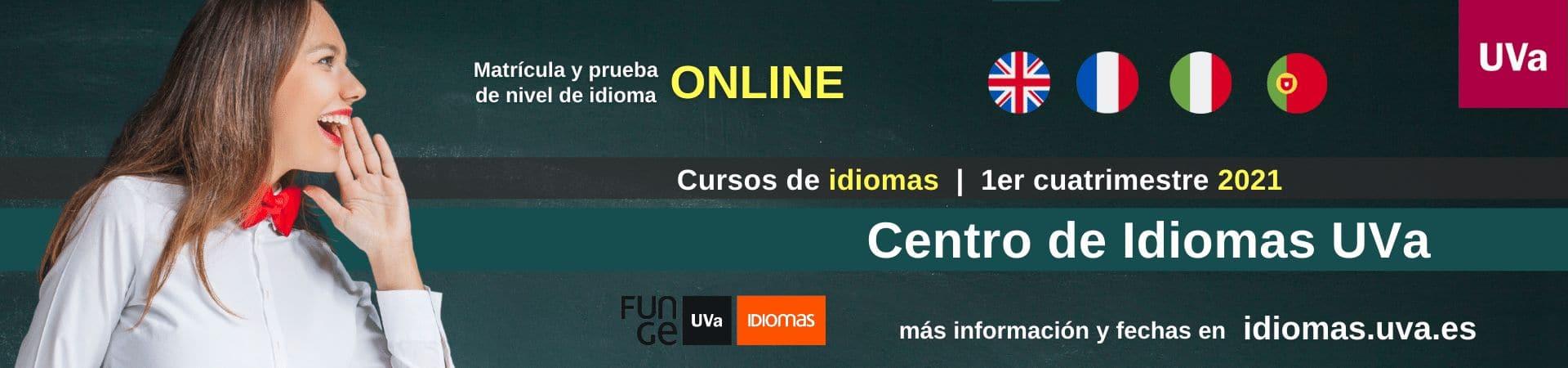 Banner cursos de idiomas UVa - 1er cuatrimestre 2021